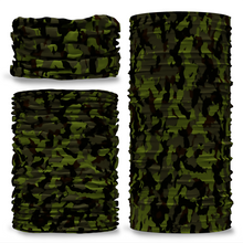 GCAM-4 Camo Scrim reversible plain green inside camouflage Multi-functional bandana headwear multiwrap snood