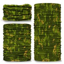 GCAM-5 Camo Tropic reversible plain green inside camouflage Multi-functional bandana headwear multiwrap snood