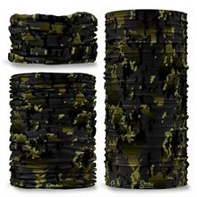GCAM-8 Camo Black Ops reversible plain green inside camouflage Multi-functional bandana headwear multiwrap snood