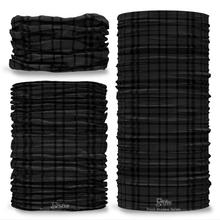 Black Shadow Tartan Scottish Scotland Seamless Tube Bandana Snood Multifunctional multiwrap Giraffe headwear