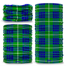 Hamilton Green Tartan Scottish Scotland Seamless Tube Bandana Snood Multifunctional multiwrap Giraffe headwear