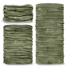 G-767 Camping Green Tube Bandana Snood Multifunctional multiwrap Giraffe headwear