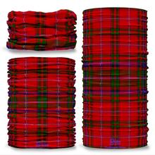 MacDougall Modern Tartan Scottish Clan Seamless Tube Bandana Snood Multifunctional multiwrap Giraffe headwear