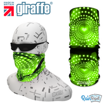 G365 Green Spots Hearts Black Tube Bandana