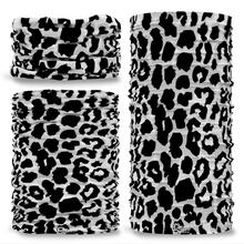 G-400 leopard Animal Print  Black & White Seamless Tube Bandana Snood Multifunctional multiwrap Giraffe headwear