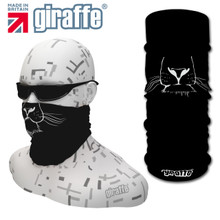 G453 Big Cat Whiskers Face Mask Black Tube  Bandana