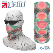 G467 Peaches Repeat Kaleidoscope  Multi-functional Tube Bandana