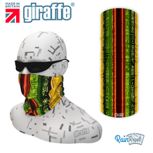 G539 Ancient Text Stripes Multi-functional Tube Bandana