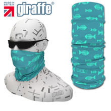 G419 Blue Fish Skeleton fishing Multi-functional Tube Bandana