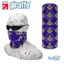 Masons - Masonic Blue - Gold Symbols Multi-functional Multi-functional Headgear  Bandana