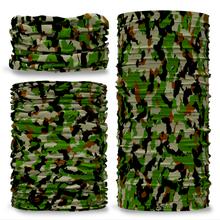 G-276 Green Camouflage  Seamless Tube Bandana Snood Multifunctional multiwrap Giraffe headwear