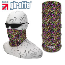 G-426 Vintage Pinks Face Mask Black Tube  Bandana