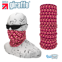 G-477 Purple Pattern Face Mask Black Tube  Bandana
