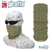 G-497 Multi Green  Pattern Face Mask Black Tube  Bandana
