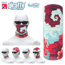G-573 -  Coloured Ice Spiral  Face Mask Tube  Bandana