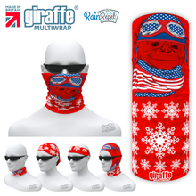 G-598 Chimp Snow Flakes-   Face Mask Tube  Bandana