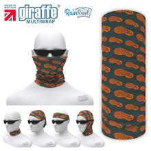 Newmachar Grey/Orange - Multi-functional Bandana