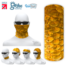 G-644 Golden Fish Scales Photo Realsistic  Mask Tube  Bandana