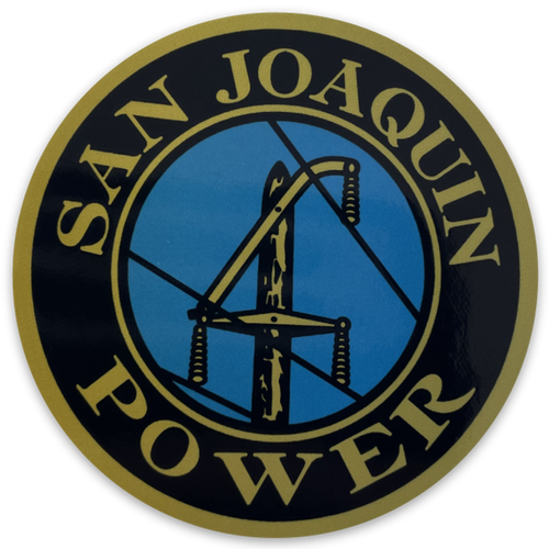 "San Joaquin Power 2.5"" Stickers"