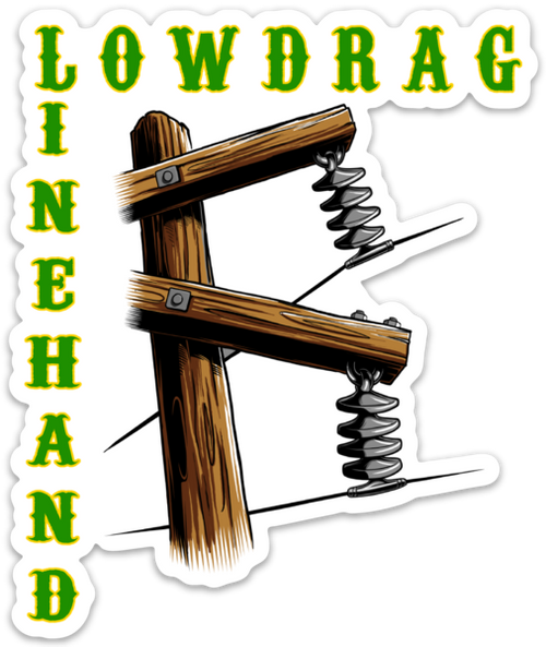 Low Drag Linehand Car Decal