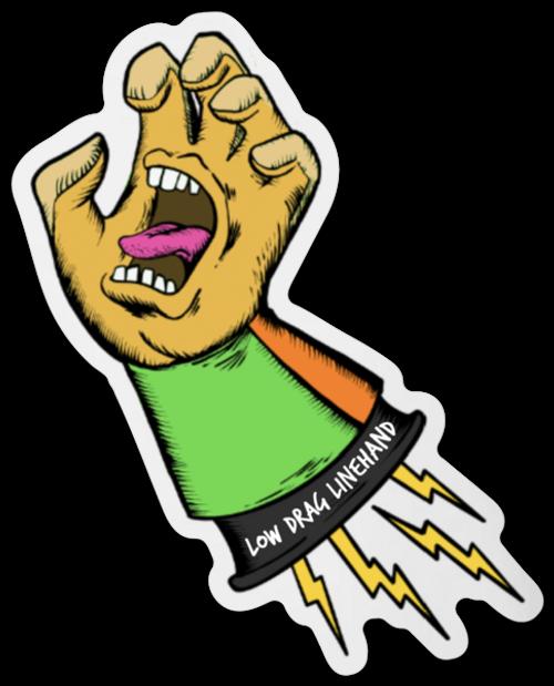 Screaming Hot Hand Sticker