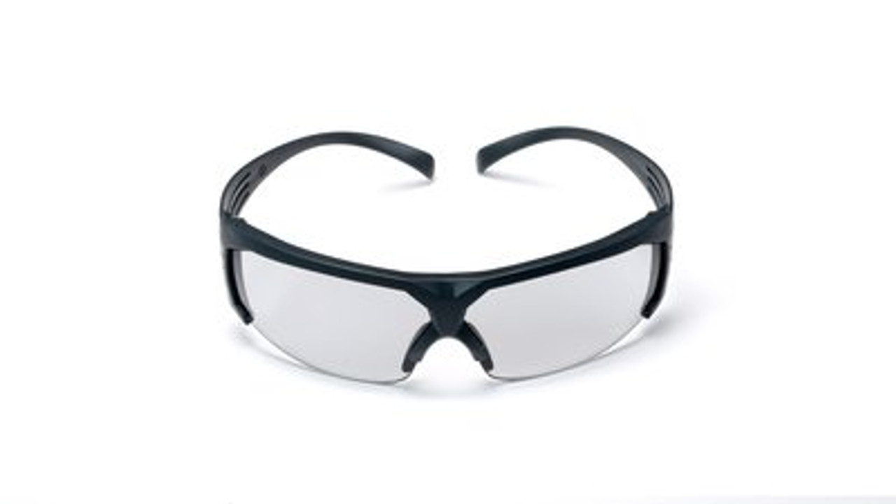 3M 11215-00000 Moon Dawg™ Safety Glasses With Black Frame And Gray Anti-Fog