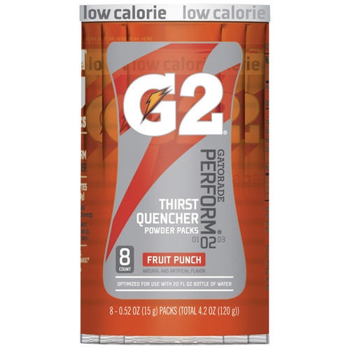 Gatorade 13168 Fruit Punch 20 oz Single Serve Packets (64/Case)