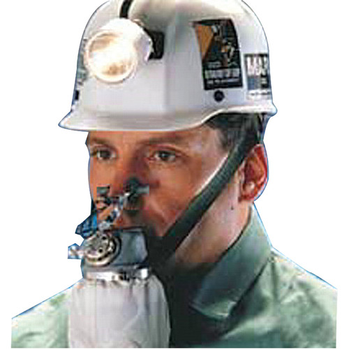 MSA 461100 Self-Rescuer Respirator with Steel Case, Boot and Holster