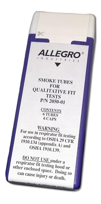 Allegro 2050-01 Replacement Tubes For Smoke Fit Test Kit (6/Box)