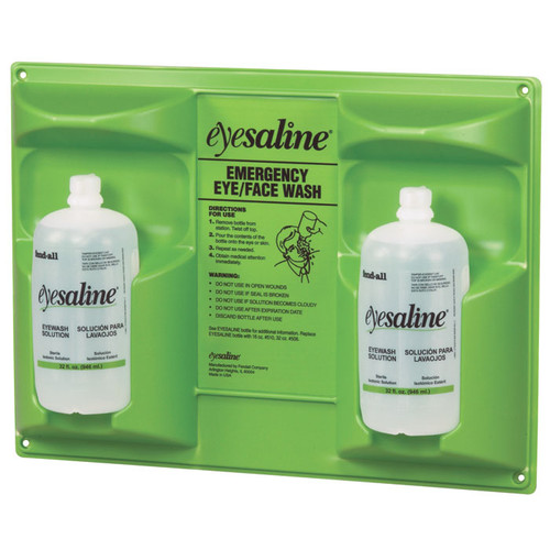 Sperian 32-000465-0000 Double Eyewash Wall Station (16 oz. Bottles)