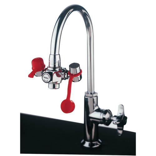 Guardian G1100 Faucet-Mounted Eyewash with Adjustable Outlet Heads