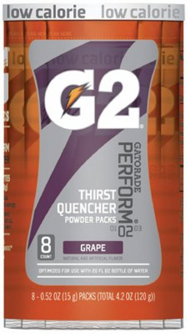 Gatorade 13167 Thirst Quencher G2 Grape 20 oz Single Serve Packets