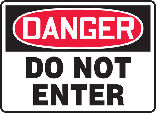 "Accuform MADM139VP Plastic Danger Safety Sign: Do Not Enter (10"" x 14"")"