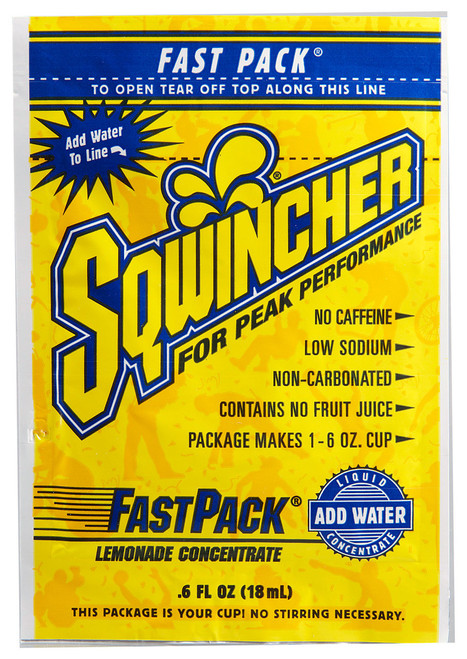 Sqwincher 015303-LA Fast Pack Lemonade Concentrate (200/Case)