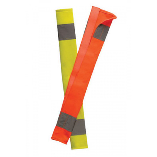 OccuNomix LUX-900-Y Yellow HiViz Seat Belt Cover with Reflective Tape