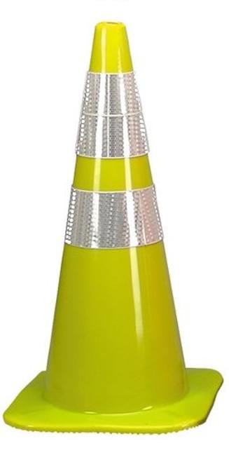 "Cortina 03-500-06LI Lime Traffic Cone with 6""/4"" Reflective Collar 36"""