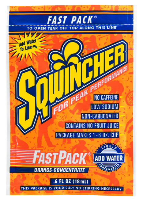 Sqwincher 015304-OR Fast Pack Orange Concentrate (200/Case)