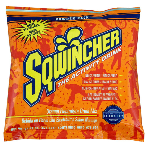 Sqwincher 016041-OR Orange 23.83 oz. Powder Pack Dry Mix (32/Case)