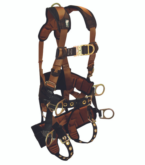 FallTech 7084 Tower Climber Harness with Seat and Back Support