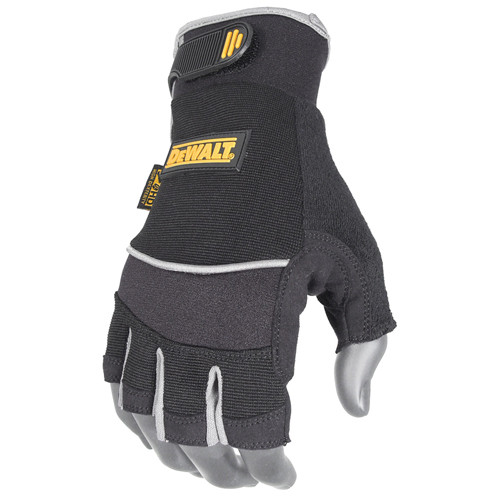 DEWALT DPG230 Fingerless Synthetic Leather Safety Gloves (Pair)