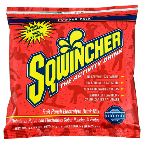 Sqwincher 016042-FP Fruit Punch 23.83 oz Powder Pack Dry Mix