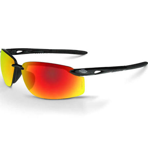 Radians 12620W Glasses Crossfire ES5W Fire Mirror Lens Black Frame