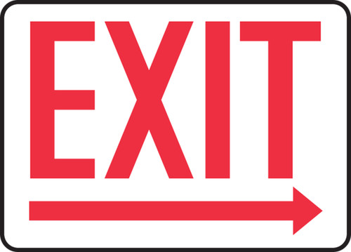 "Accuform MADC534VP Safety Sign: Exit (Right Arrow Below) (10"" x 14"")"