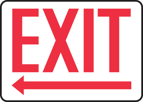 "Accuform MADC532VP Safety Sign: Exit (Left Arrow Below) (10"" x 14"")"