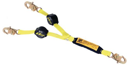DBI SALA 1241480 6' Lanyard Double Leg 100% TieOff Web with Snap Hooks