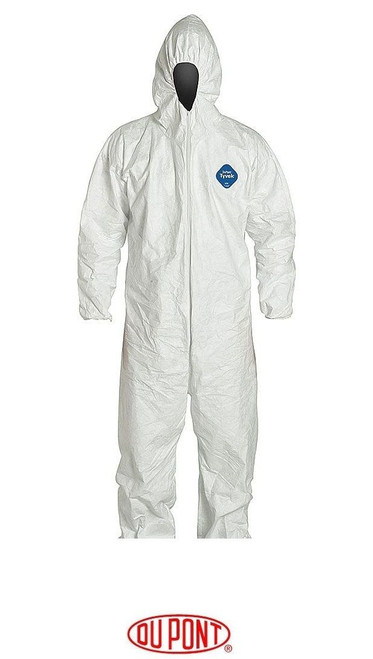 DuPont TY127S Tyvek White Coverall with Respirator Hood (25 Case)