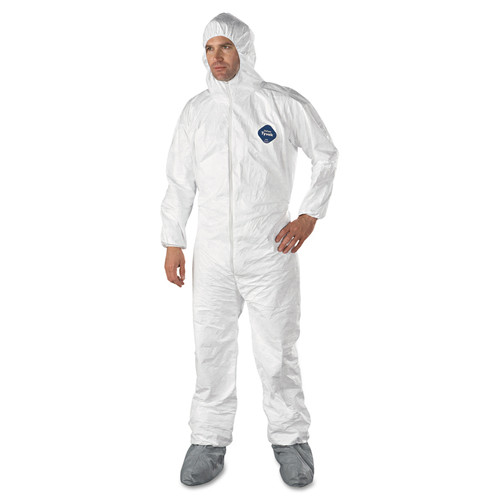 Dupont TY122S Tyvek Coverall Suit with Hood and Boots (25/Case)