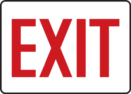 "Accuform MEXT906VP Plastic Safety Sign: Exit (10"" x 14"")"