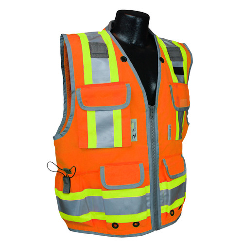 Radians SV55-2ZOD Class 2 Heavy Woven Orange Engineer's Safety Vest