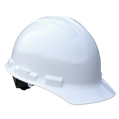 Radians GHR4-WHITE 4 Point Ratchet Cap Style Hard Hat